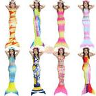 Mermaid Tail Swimmable Costume Swimsuit mono fin for Women K
