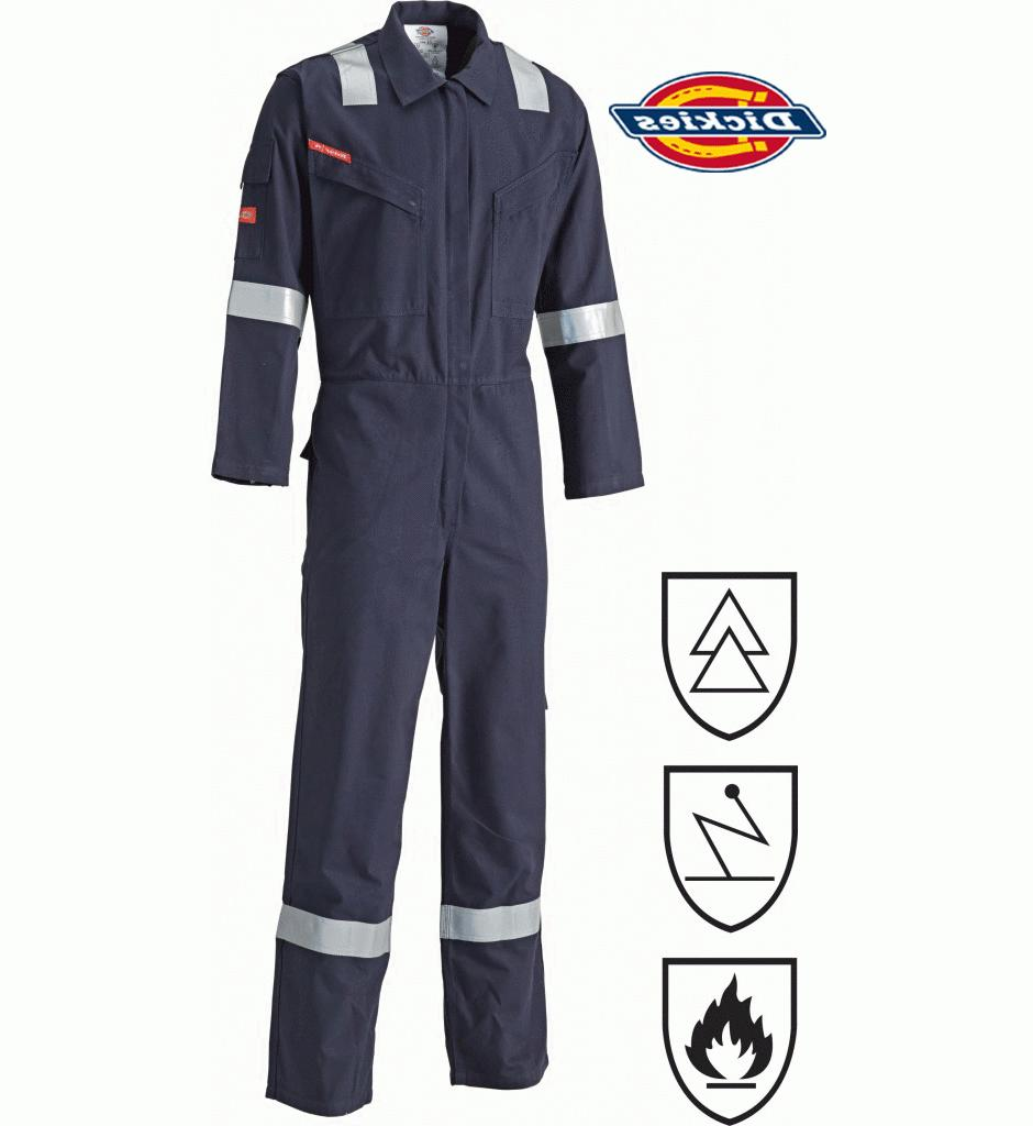 Dickies Modacrylic Coverall, Electrostatic, F/R Overall Boil