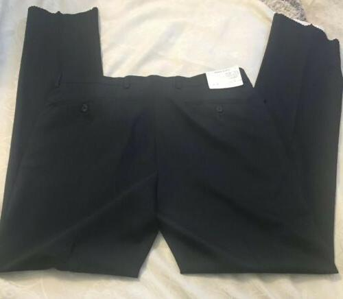 Navy Blue Haan Suit Lined, 35 Waist NWT