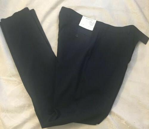 navy blue suit pants wool blend partially