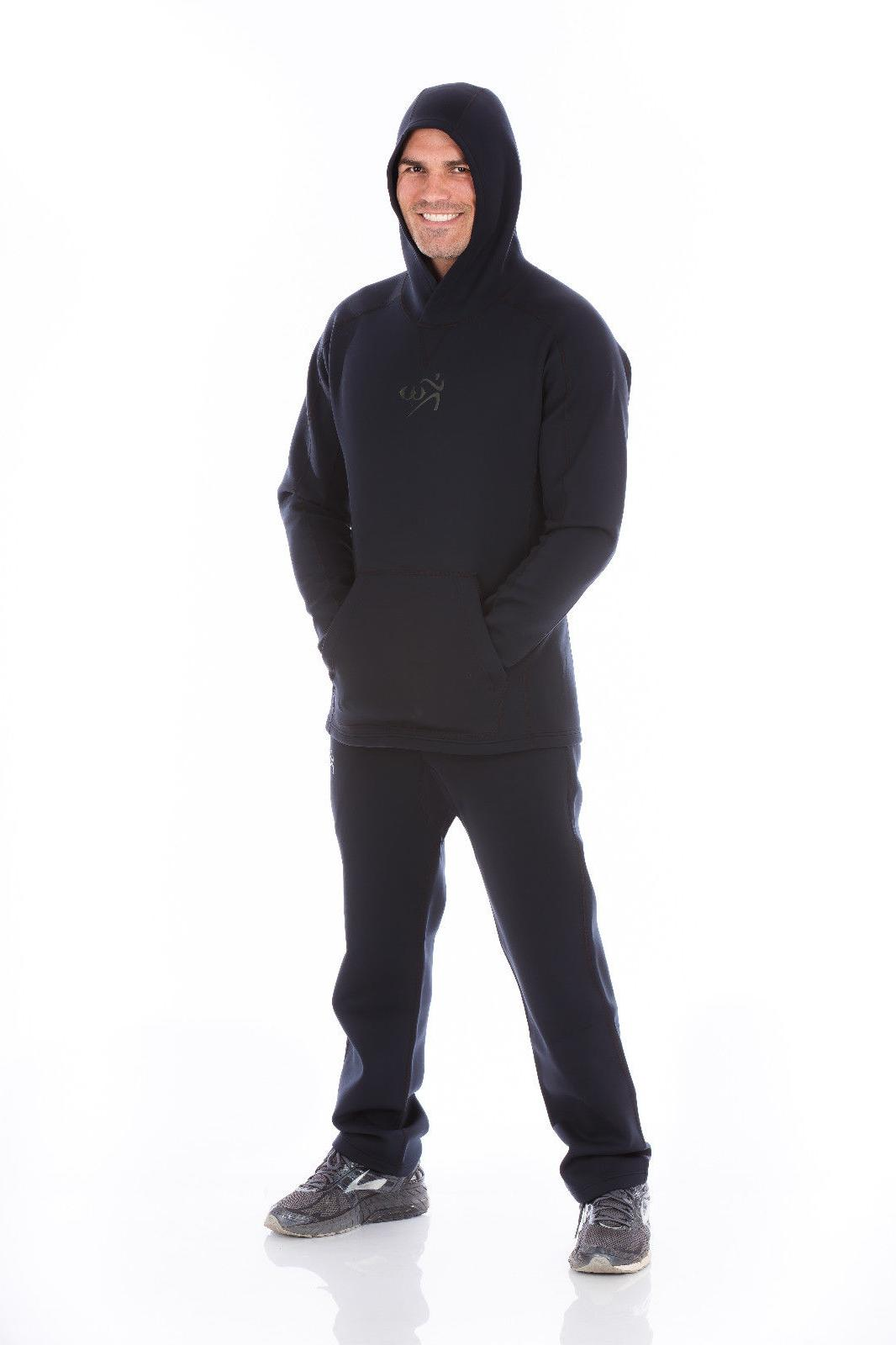 Kutting Neoprene Weight Loss Suit All-Black Workout Hoodie