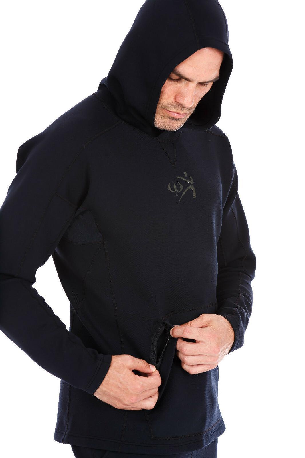 neoprene weight loss sauna suit all black