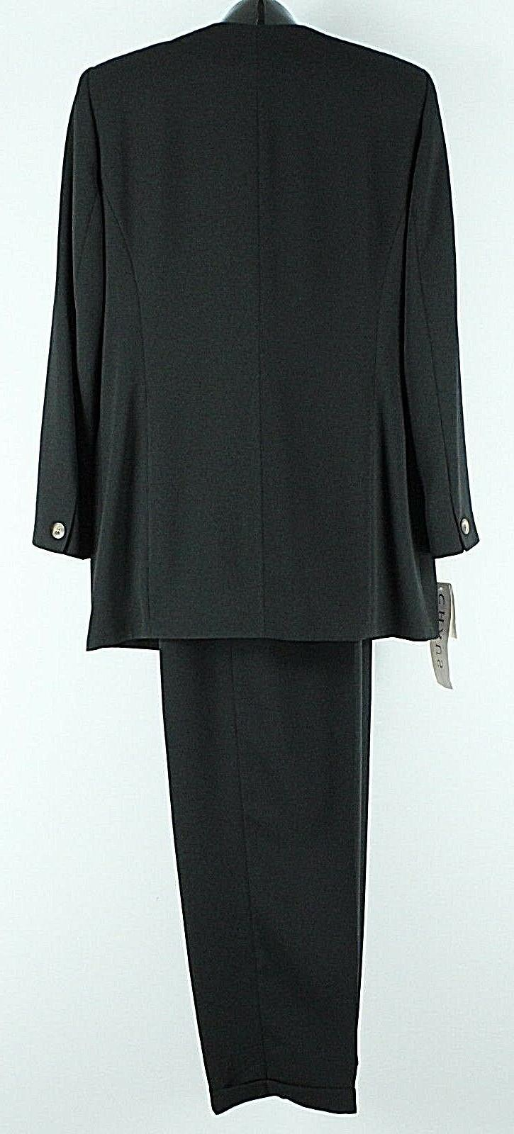 Chaus x Black Polyester Acetate Pant
