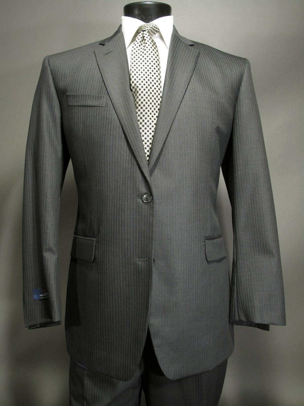 New Milano Suit L Charcoal Gray Double