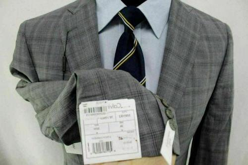 New Extreme Slim-Fit Gray Double Vent 100% Wool Suit AG9