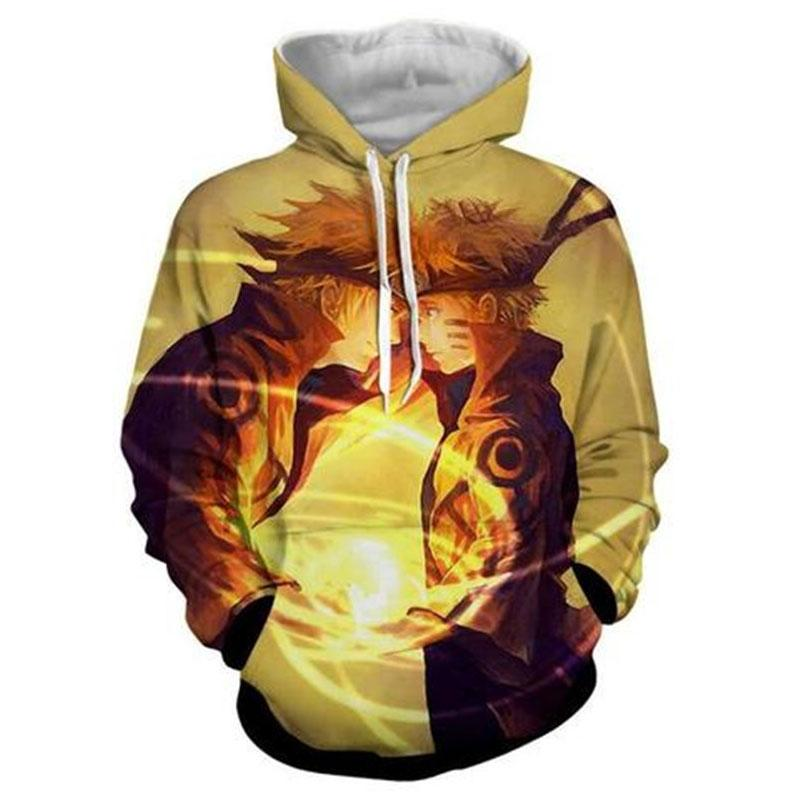 LIASOSO NEW cartoon <font><b>USA</b></font> Naruto men's hooded sweatshirt Hat