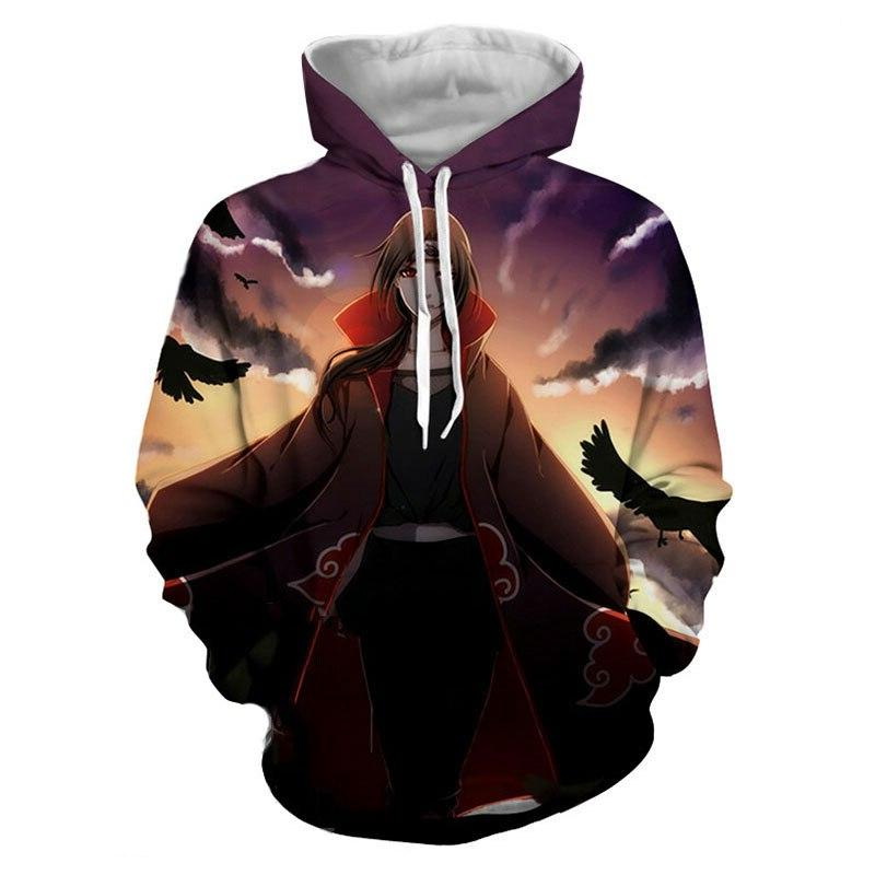 LIASOSO cartoon <font><b>USA</b></font> movie Naruto women's men's hooded sweatshirt Hat controllable code-001