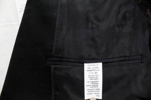 Slim Black Double Vent Suit 33x32