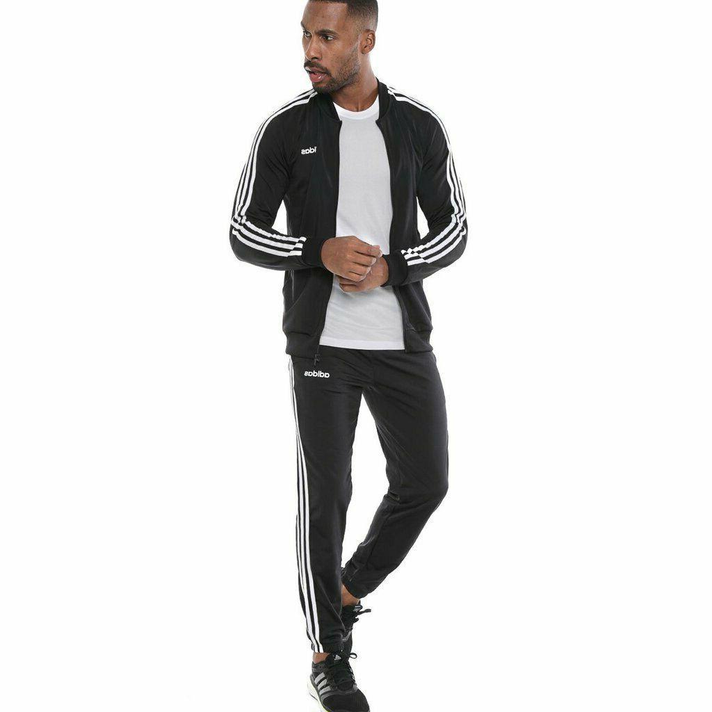 new adidas BACK 2 BASICS SUIT SET black sz L Jacket Pant
