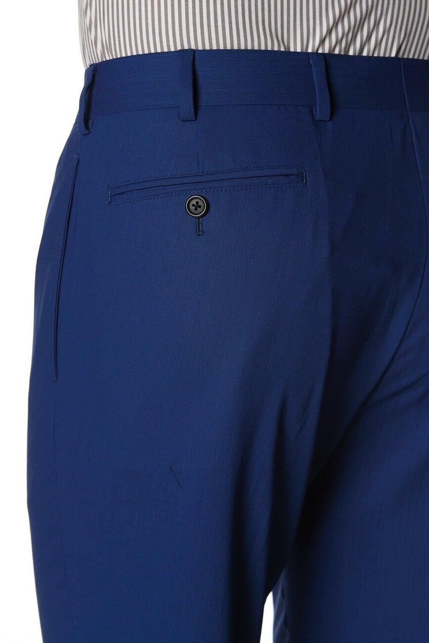 NEW 'Milano Fit' Size Solid Blue Suit