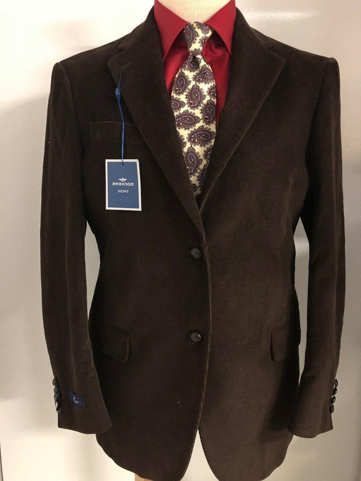 new brown corduroy 40r cotton blazer sport