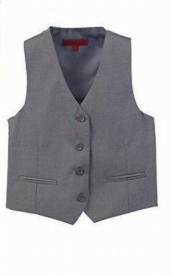 Gioberti NEW Gray Boys Size 7 Button-Front V-Neck Formal Sui