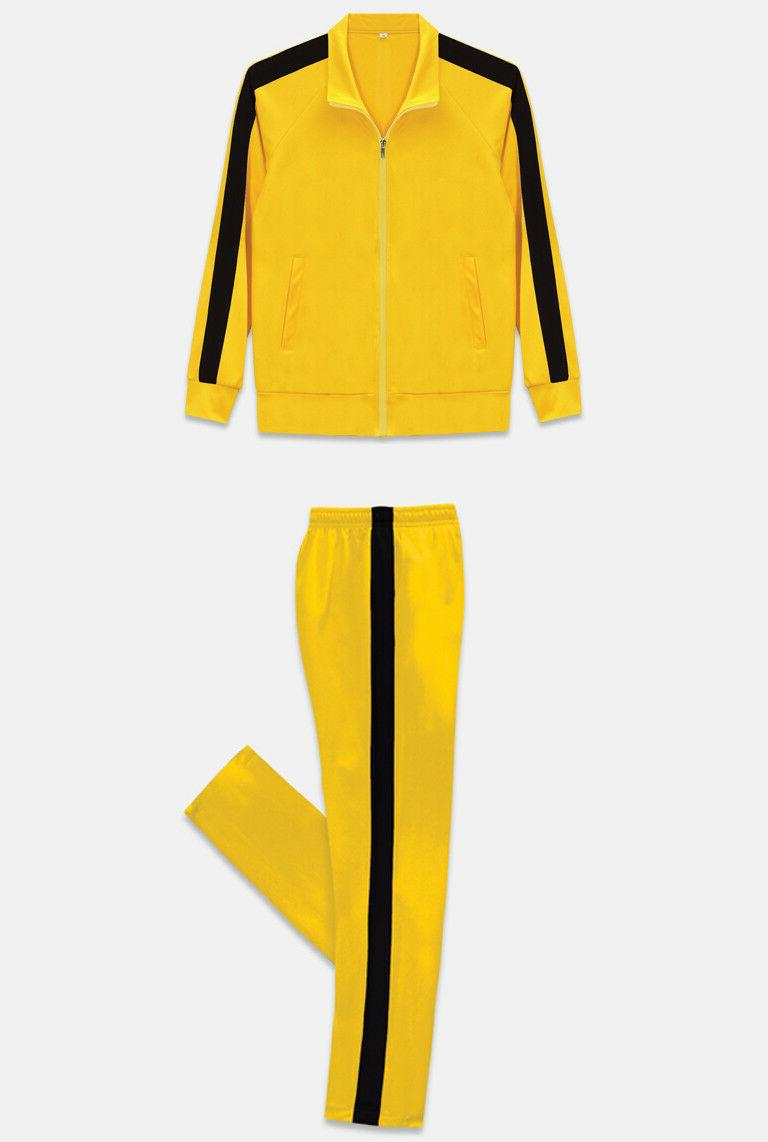 New Kill Bill Bruce Lee Style Track Suit Warm Up Jackets Pan