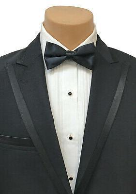 New Men's Black Calvin Klein Flat Front 40 Regular