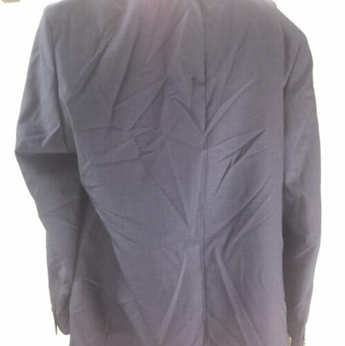 NEW Slim-Fit Navy Plaid Jacket Notched