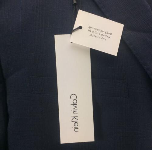 NEW Men's Slim-Fit Plaid Suit Jacket Two-Button