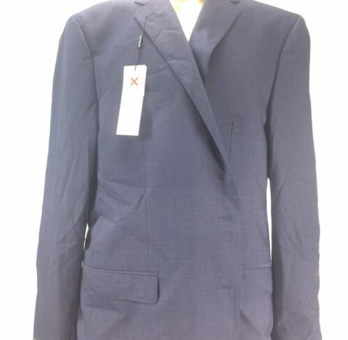 NEW Calvin Klein Slim-Fit Plaid Jacket Two-Button Style