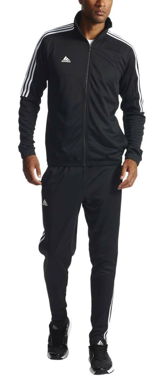 New Tiro Track Suit 3 stripe black white jacket and pant set