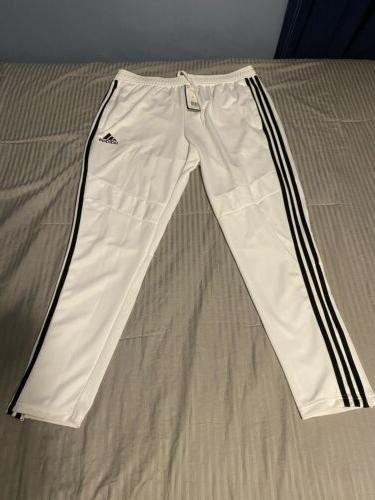New Adidas Track Suit Set Stripe White/Black Material