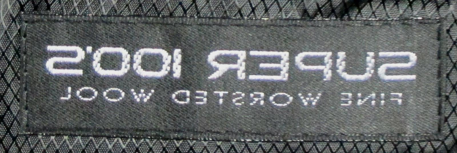 New Mens Calvin Klein Jacket Flat Pants Super 100s Wool