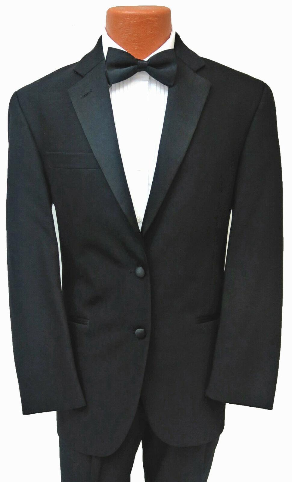 new mens black tuxedo jacket with flat