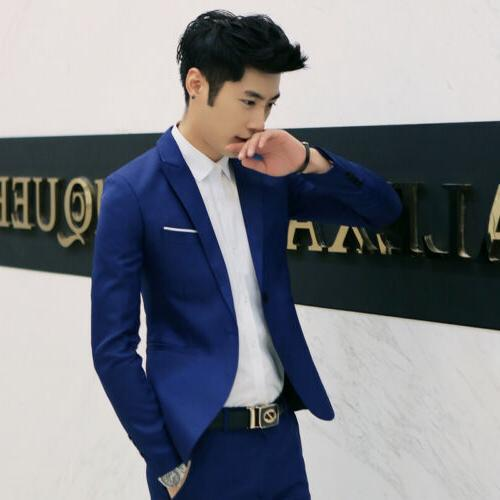 Men's Formal Fit One Button Suit Business Coat Tops