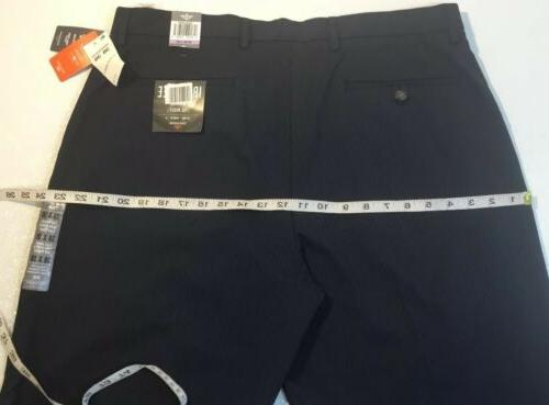 NEW DOCKERS Pants 38 Navy Blue Suit Stripe Straight Slacks