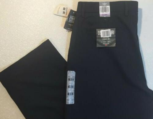 NEW DOCKERS Pants 38 Navy Blue Suit Stripe Straight