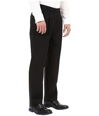 NEW DOCKERS Pleated Pants Trousers BLACK L $60