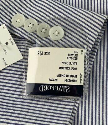 New Mens Suit Jacket Sport Coat Blue Striped Cotton