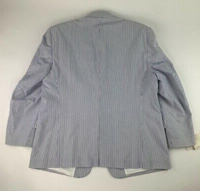Suit Sport Coat Blue Striped