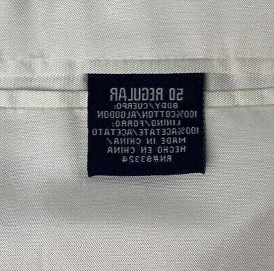 New Mens Seersucker Suit Sport Coat Blue Striped Cotton