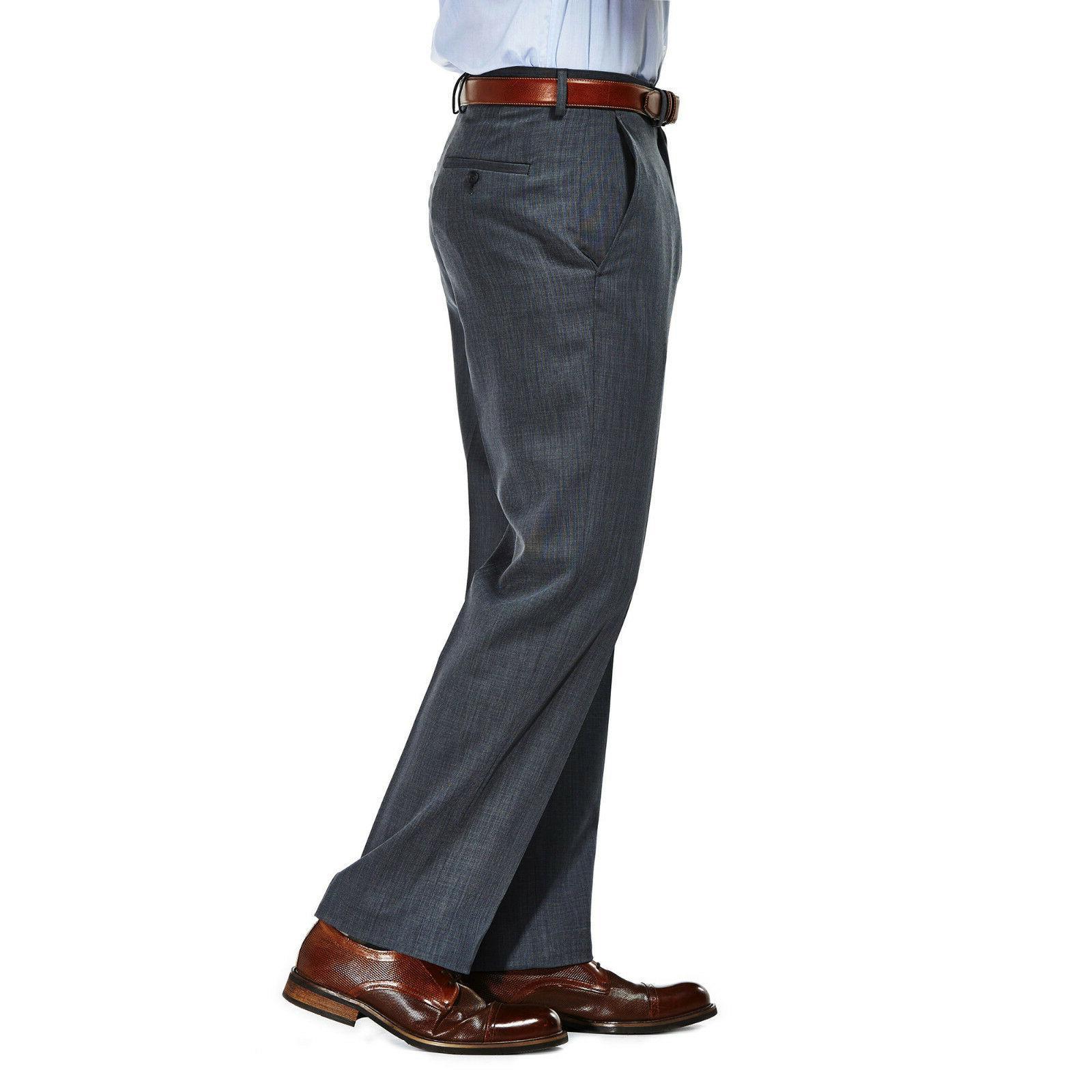NEW Sz 32x32 Haggar Travel Performance Suit Pants Graphit