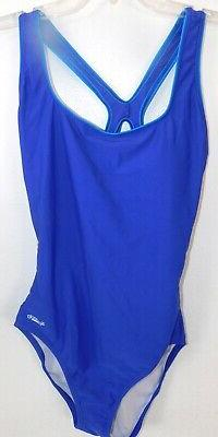 NEW WOMENS 18 INDIGO BLUE TURQUOISE TRIM SPEEDO ONE PIECE SW