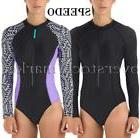 New! Womens Speedo Long Sleeve 1 Pc Paddle Suit/Swimsuit!  R