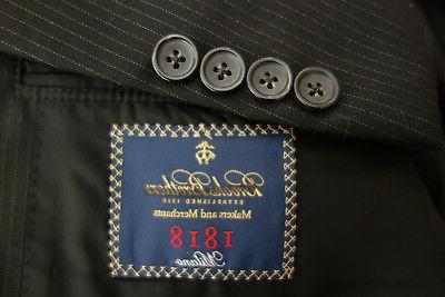 NWT Brooks Brothers Milano Pinstripe Wool 41L $1098