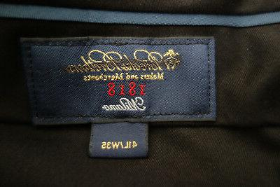 NWT 1818 Milano Black Pinstripe Wool Suit $1098