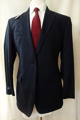 nwt 1818 milano navy blue pinstripe suit