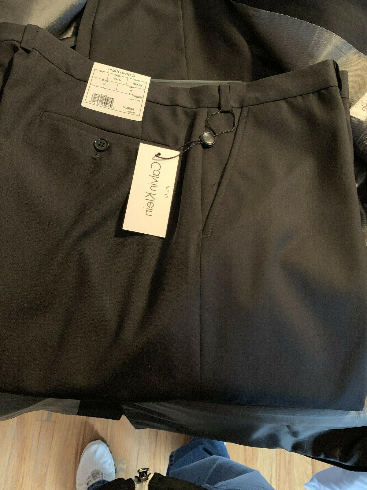 Calvin Klein NWT black slim-fit suit 36x30 Retail