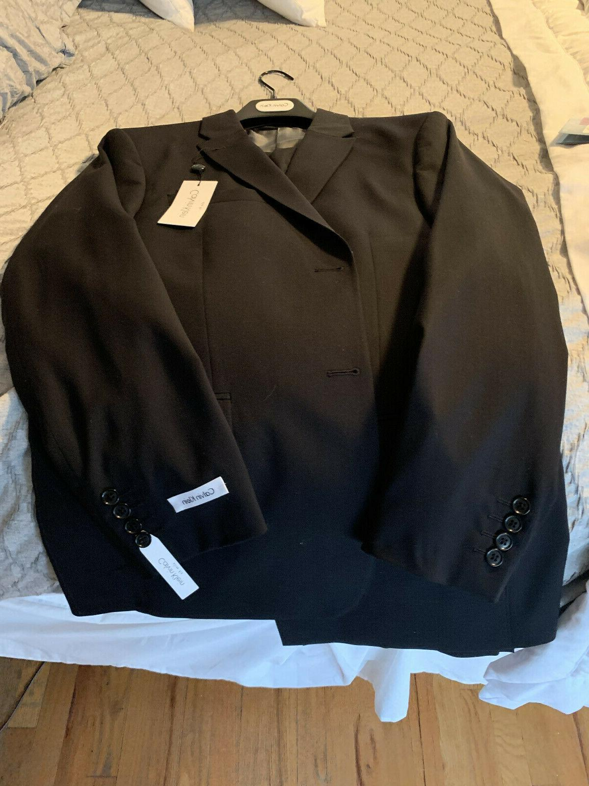 nwt 2 piece black slim fit suit