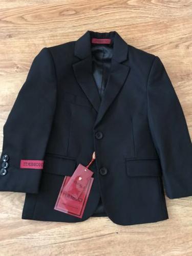 NWT GIOBERTI Boys Black Suit Blazer Jacket 3T