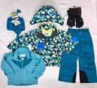 NWT COLUMBIA Girls 3in1 Winter Jacket,Ski/Snow Pants Hat,Glo