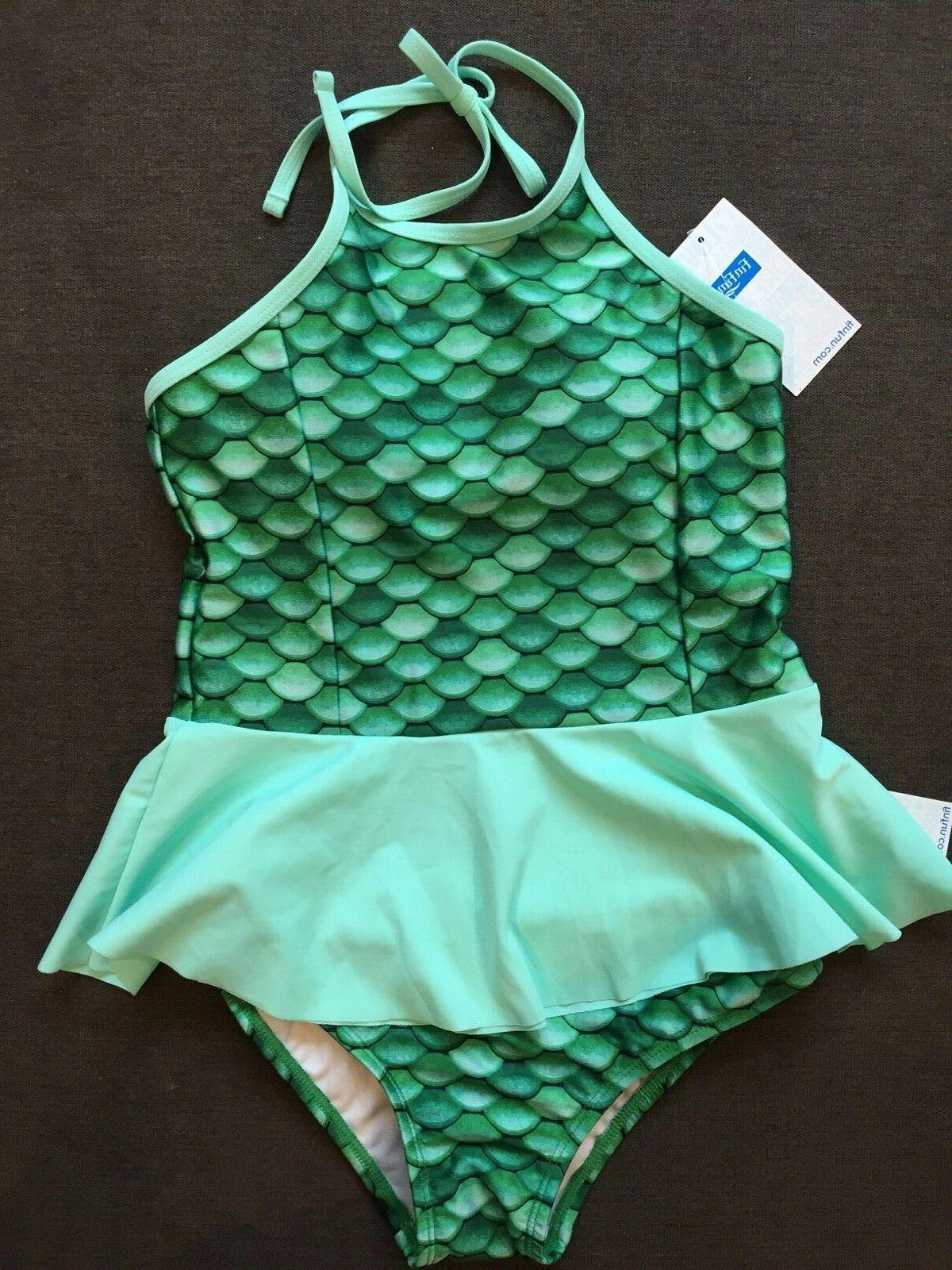 nwt girls swim suit 2 pc peplum