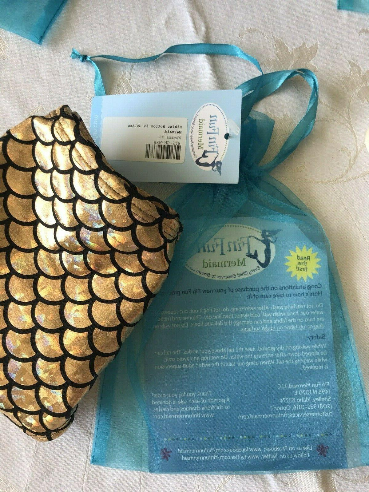 NWT Fun Golden Mermaid Suit RETIRED, Womens