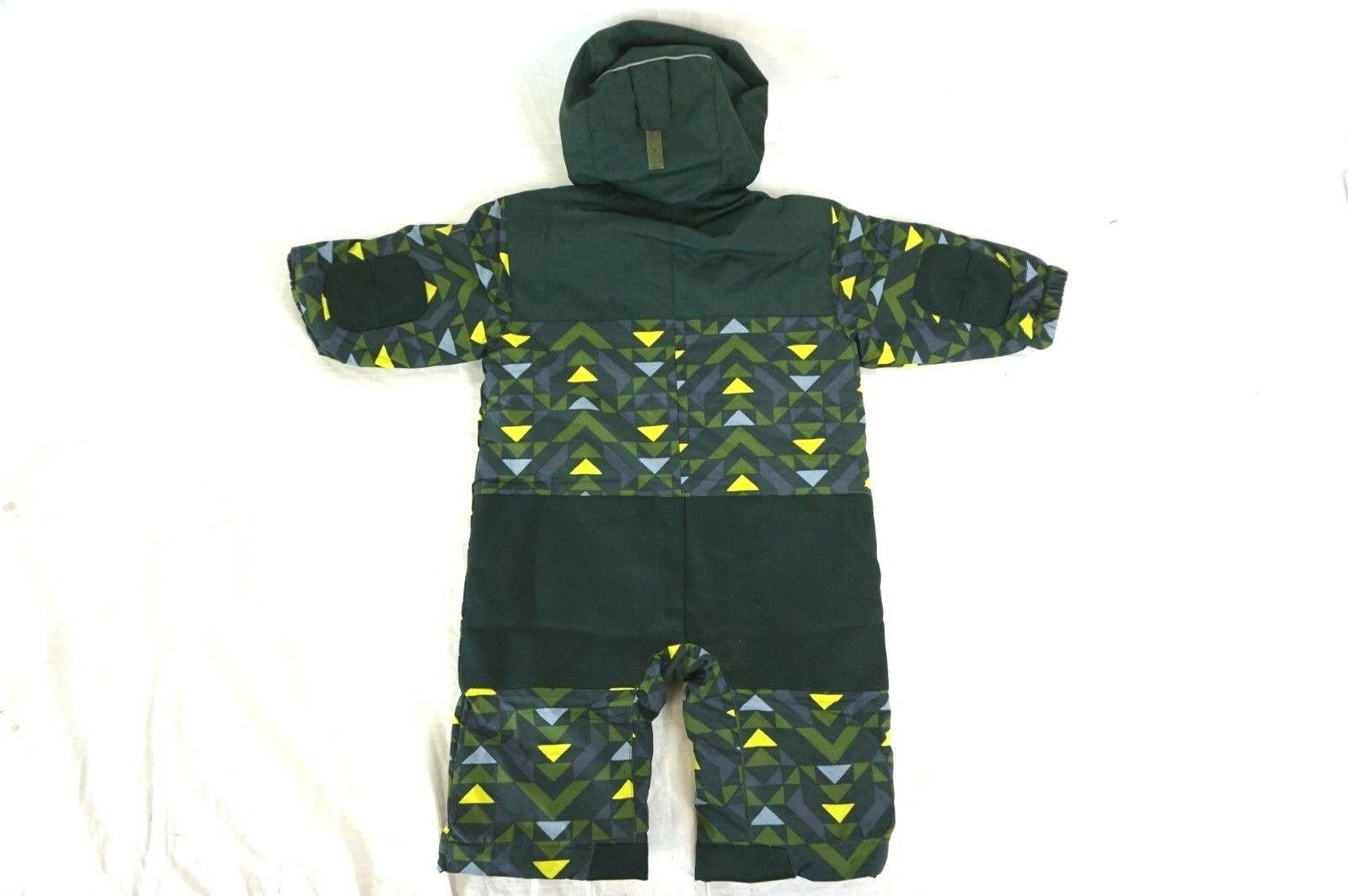 NWT COLUMBIA Infants Green Hooded Snow