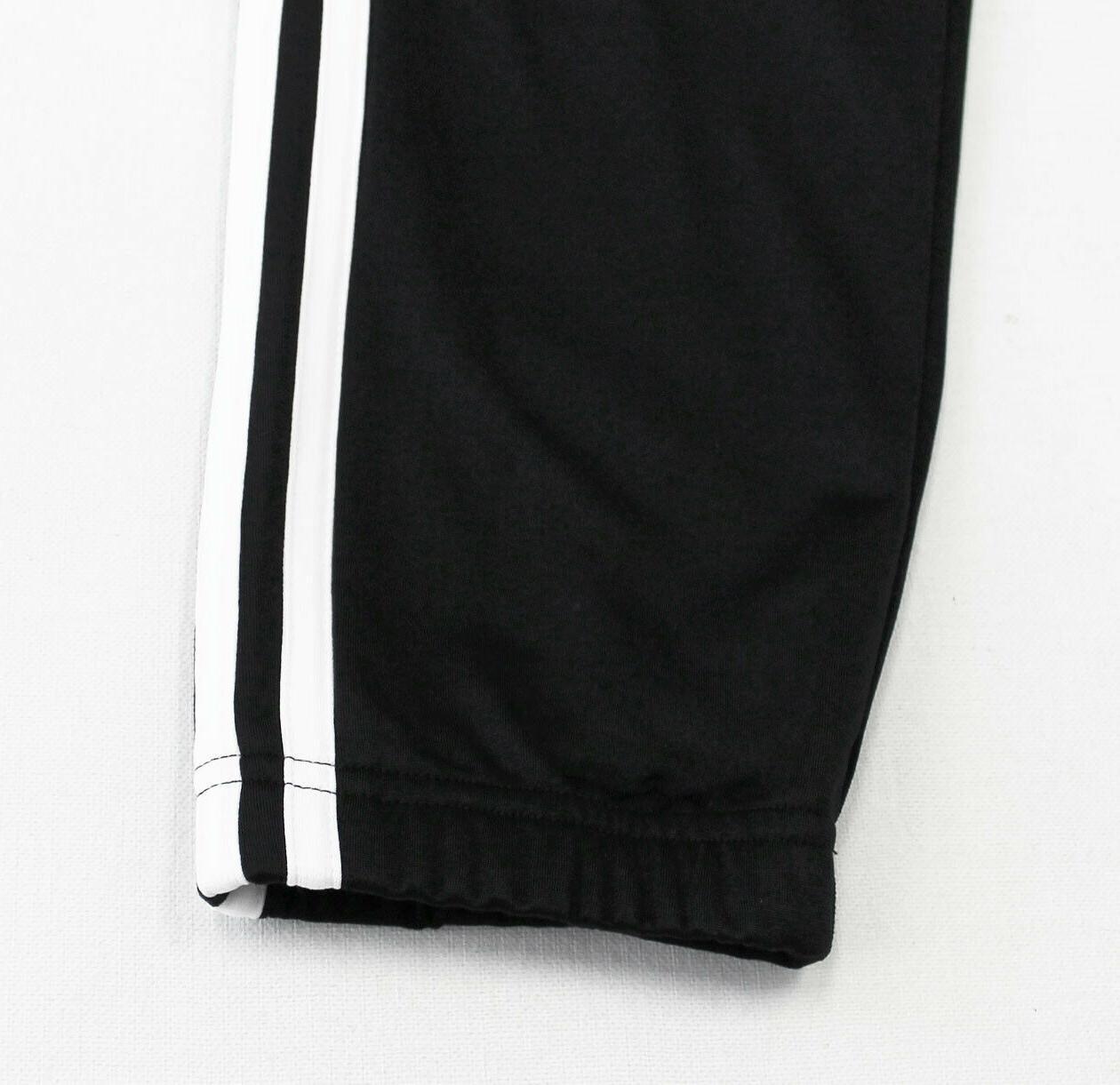 NWT Men's Black Cuffed Tricot Suit Set Jacket Pants Joggers