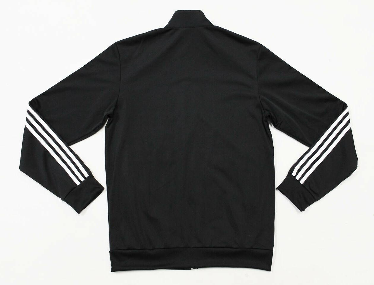 NWT Black-White Pocket-Zipper Track Suit Set Jacket Pants