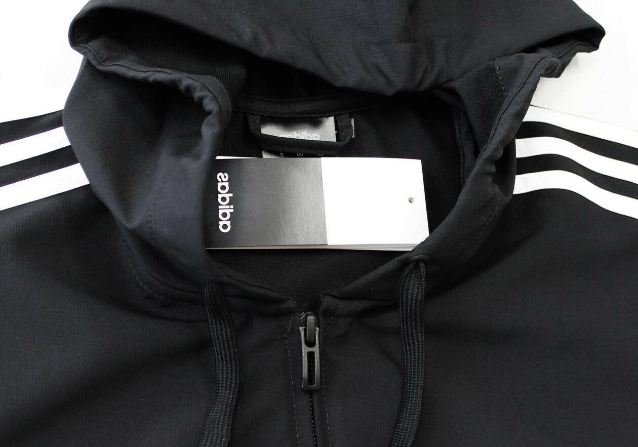 NWT ADIDAS Men's White Hoodie Jacket