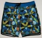 NWT PrAna Men's Board Shorts 34 High Seas Vortex Blue Dune S