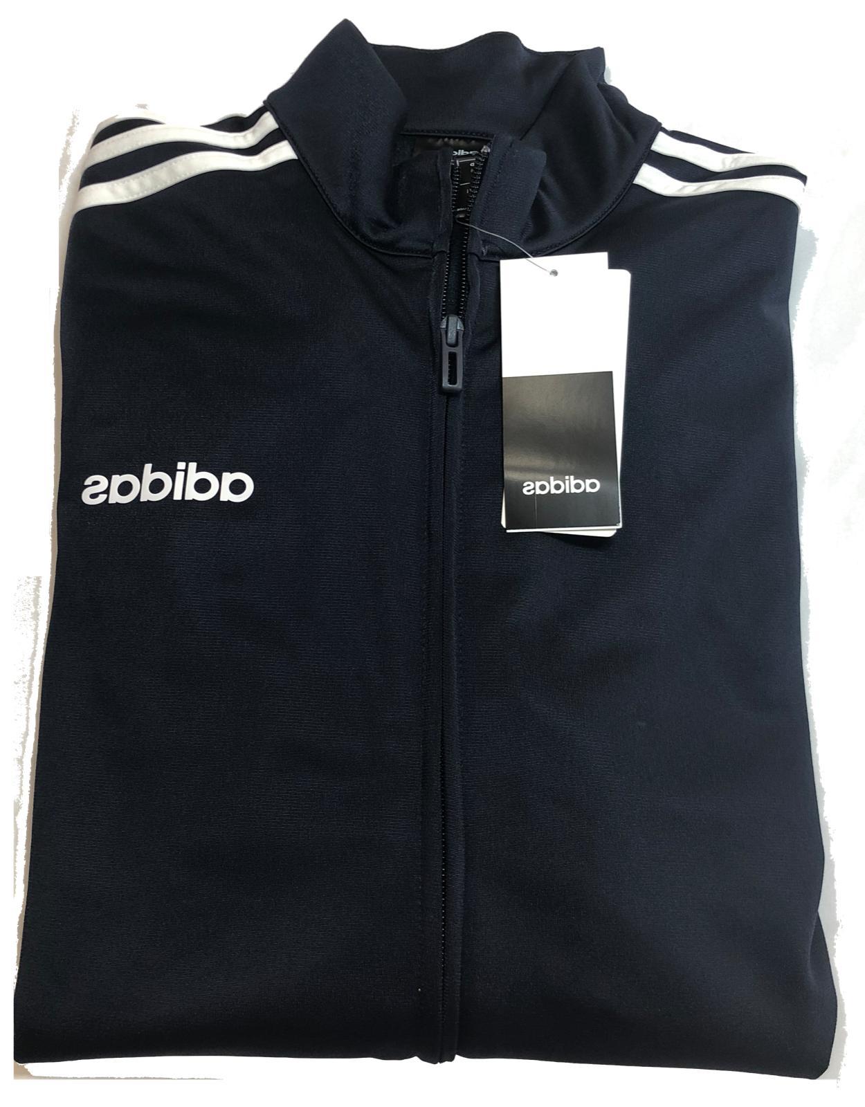 NWT Adidas 3 Stripe Track - Full Zip and